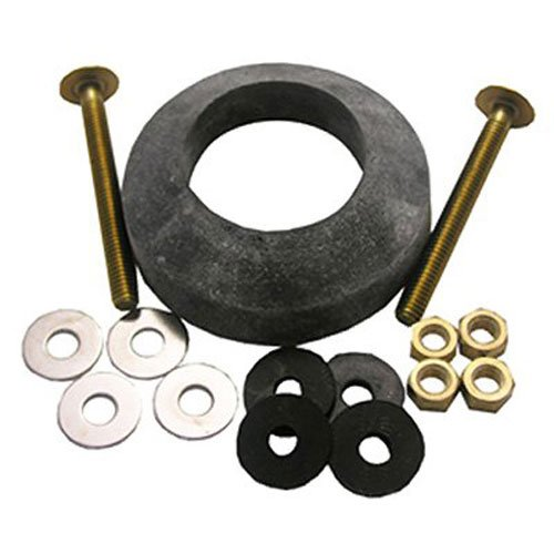 LASCO 04-3807 Toilet Tank to Bowl Bolt Kit with Brass Bolts, Rubber and Brass Washers, Hex and Wing Nuts, W-210 Recessed TXB Gasket by LASCO