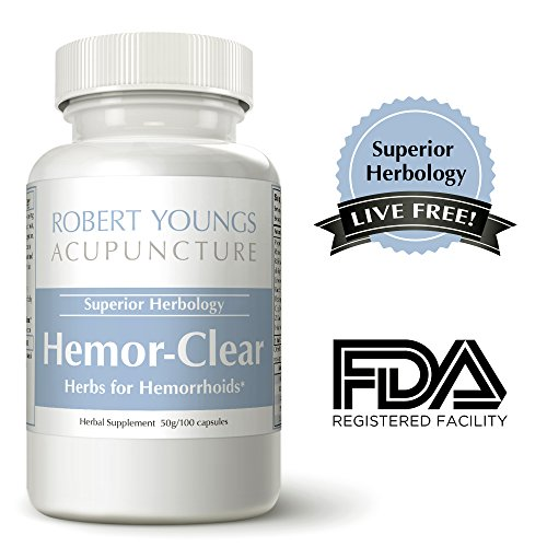 HemorClear Hemorrhoid Treatment • Internal Herbal Hemorrhoid Medicine • Natural Hemorrhoid Pills • Works Great With Hemorrhoid Cream, Hemorrhoid Ointment • Fast Relief