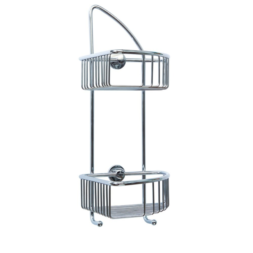 Draad Rustproof Solid Brass Shower Caddy 16 in. Corner Mount Chrome DK210-CHR