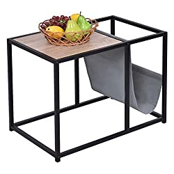 PB + Steel Tube Side End Accent Coffee Table With Ebook