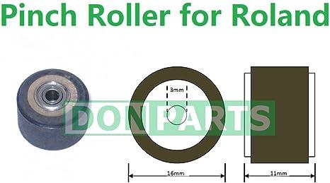 Pinch Roller para Roland vinilo plotter 3 mm Rodamientos Eje ...