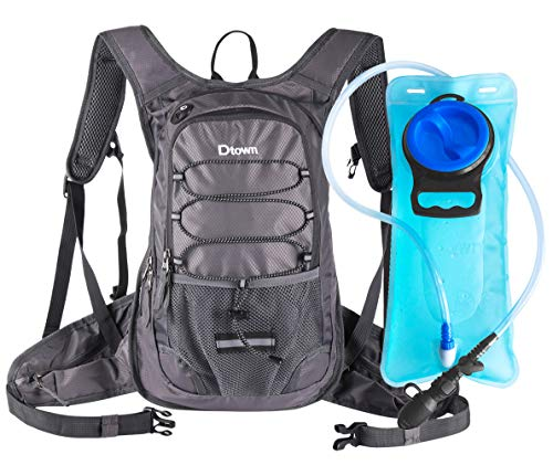 Dtown Cycling Camel Backpack Hydration Pack for Kids Women Men with 2L FDA EVA Bladder Bag,Thermal Insulation Water Pack Lightweight