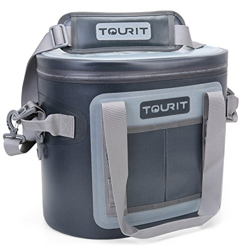 TOURIT 20 Cans Leak-proof Soft Pack Cooler Waterproof Insulated Soft Sided Coolers Bag with Cooler for Hiking, Camping, Sports, Picnics, Sea Fishing, Road Beach Trip - Excursion Beach Cooler