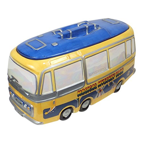 Beatles Collectible: 1999 Vandor Limited Edition Magical Mystery Bus Cookie Jar (Retired 1999 Edition)