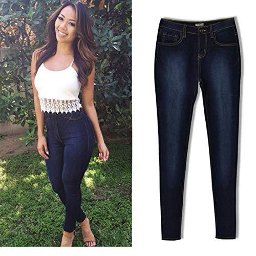 Leggings Pantalons Crayon Slim Jeans Femmes Collants Courts Knickerbockers Pantalon Jeans Bleu Long Combinaisons Pantalons Stretch MORCHAN Skinny U6Bxw