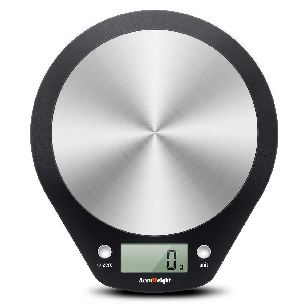 ACCUWEIGHT Báscula Cocina Digital, Balanza de Alimentos Multifuncional, Peso de Cocina, 5 kg