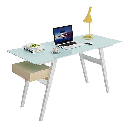 Superieur Amazon.com: ZJ Computer Table Computer Desk   Tempered Glass Desk ...