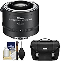 Nikon TC-20E III 2x AF-S Teleconverter with Case + Cleaning Kit for D3200, D3300, D5300, D5500, D7100, D7200, D610, D750, D810 DSLR Cameras
