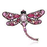 Jana Winkle Shinny Crystal Rhinestone Dragonfly Brooches Women Dress Scarf Brooch Pins Jewelry Accessories Gift 6