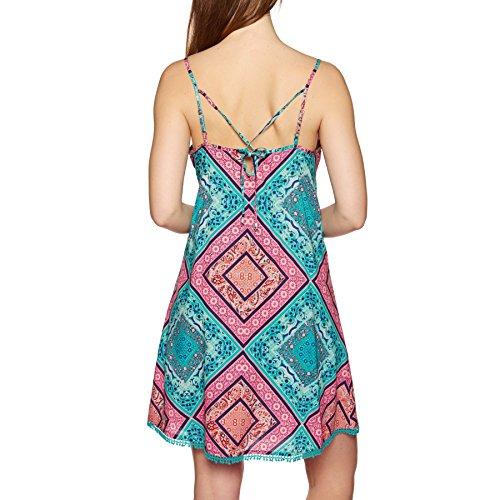 green aop purple Kleid pink Rosebowl O'Neill Kleid w aw6Bttx