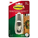 Command Hook Forever Classic Holds Up To 5 Lb Large Brushed Nickel 2 Strips