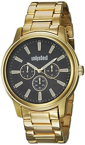 UNLISTED WATCHES Men's 'Sport' Quartz Metal and Alloy Dress Watch, Color:Gold-Toned (Model: (Geneva Watches Men Gold)