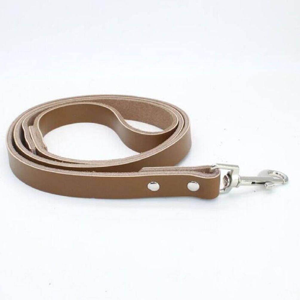 Leather Pet Leashes Luxury Genuine Leather Plain Pet Dog Leashes