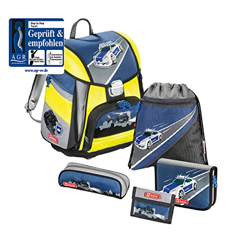 Step police Car Satchel School Blue Touch yellow 5pieces Set Din By r8tRw0qpWr