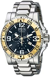 Invicta Men's 14040 Excursion Reserve Chronograph Black Dial Stainless Steel Watch