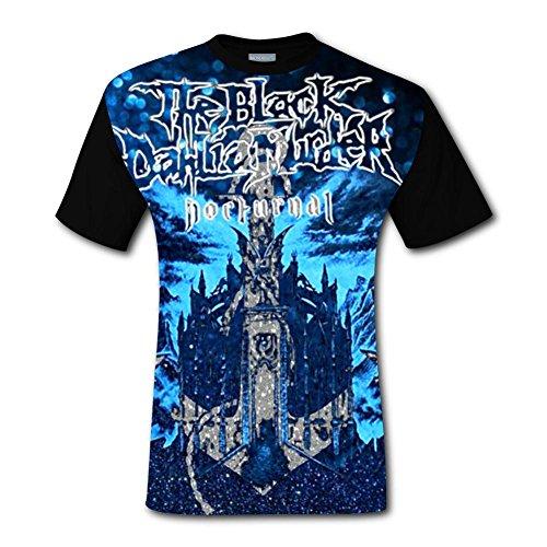 Men's Top T-Shirt Cool Short Sleeve Tee Shirts Black Dahlia for Men XL]()
