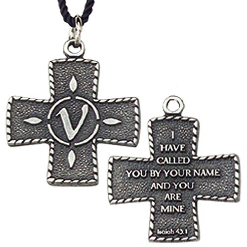 Terra Sancta Guild 217-V Vocari Cross Pendant with Isaiah 43:1 The Lord's Call on back