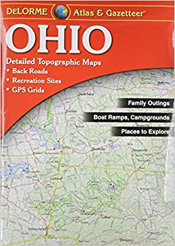 Ohio Atlas Gazetteer Delorme Null Amazoncom - Detailed map of ohio