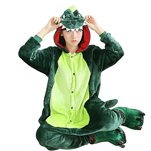 Zhongyu Kigurumi Pajamas Couples Sleepwear Cosplay Costume Animal Plush Onesie (L, as picture) (Couples Cosplay Costumes)