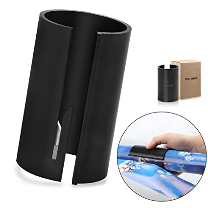 Wrapping Paper Cutter Quick Cutting Sticker in 2 Seconds Unique Sliding  Paper Roll Cutters Trimmer Tool for Christmas Sticker Papers (Black)