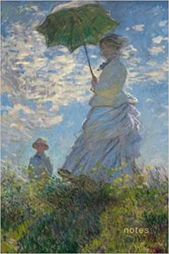 notes claude monet woman with a parasol notebook 175 page college ruled monet notebook iconic art notebooks volume 4