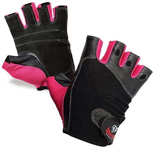 Fitness Gloves For Women, Girls and Ladies, Gym Weight Lifting Training and Crossfit Workout, Premium Quality Leather and Breathable Fabric by Armageddon Sports