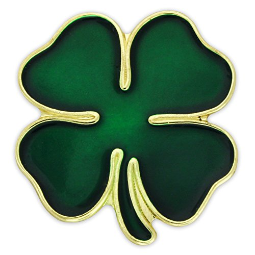PinMart's Green Four Leaf Clover St. Patricks Day Lapel (Green Lapel Pins)