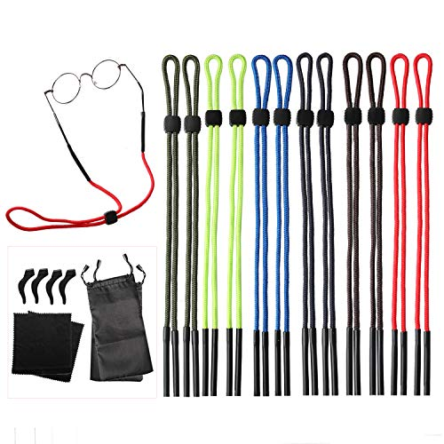 (12 Pack Universal Eyewear Retainer Sports Sunglass Holder Straps, Safety Glasses Eyeglasses Neck Cord String Lanyard Strap)