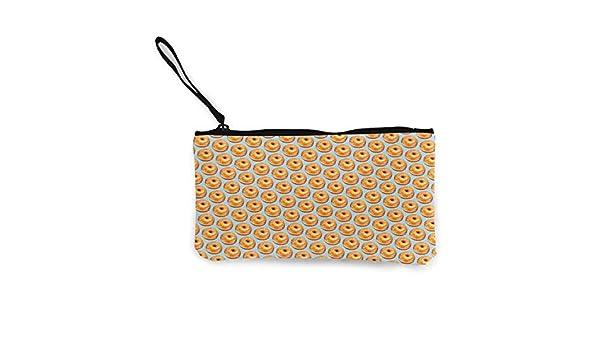 amazon com tr7fd15de bagel food funny pattern zipper canvas coin