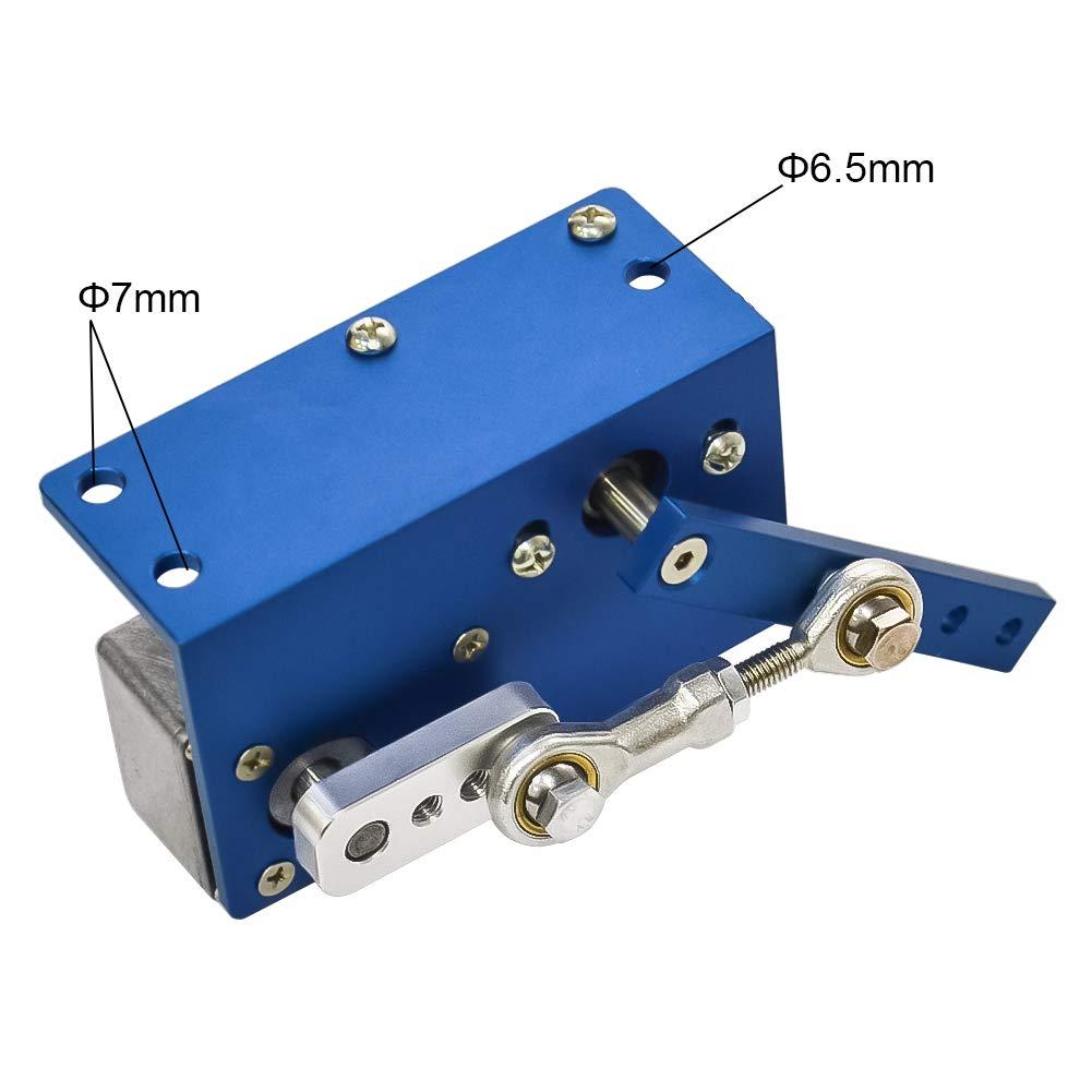 DC 12 V 24 V Getriebemotor Automatische Wobbler Maschine DC Motor 35 60 90 Degress mit B/ürste f/ür DIY Design 350 rpm, 12 Volt