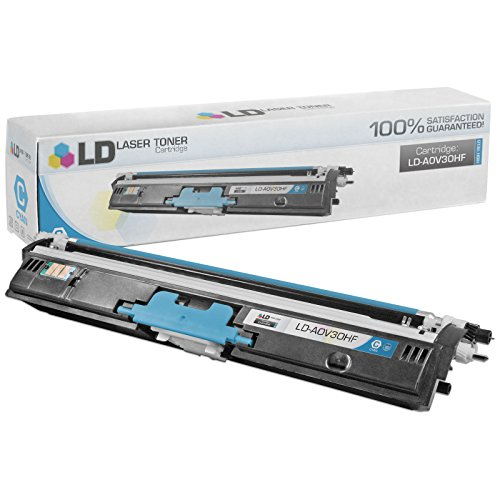 LD Compatible Toner Cartridge Replacement for Konica Minolta MagiColor 1600 A0V30HF High Yield (Cyan)