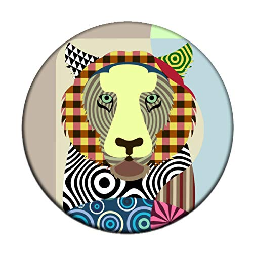 Tiger Magnet 2.25 inches diameter 0.25 inches thick