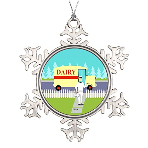 Tree Decorating Ideas Retro Small Town Milkman Cool Snowflake Ornaments
