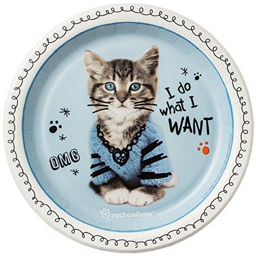 BirthdayExpress Rachael Hale Party Supplies Cats Rule Dessert Plates (8) ()