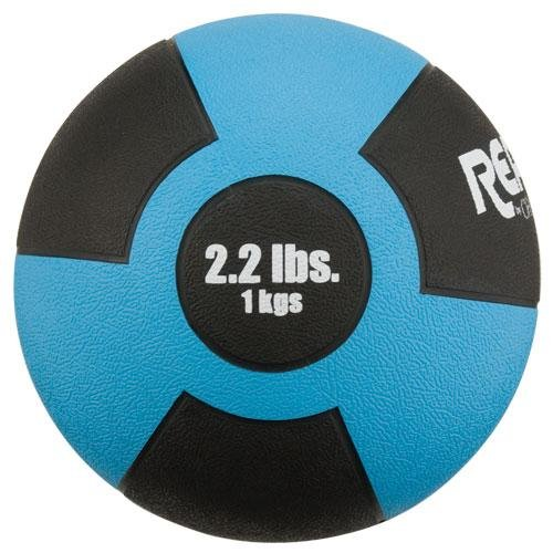 Champion Barbell Rubber Medicine Ball - 2.2 lb. - Light Blue by Champion Barbell