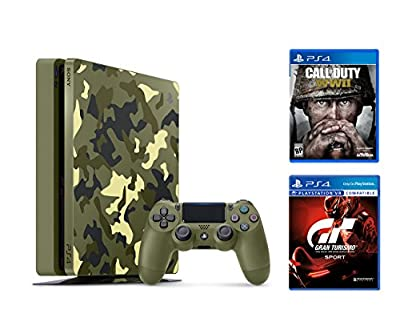 PlayStation 4 Slim Call of Duty WWII Bundle (2 Items): PS4 Slim 1TB Limited Edition Console - Call of Duty WWII Bundle and Gran Turismo Sport Game Disc