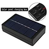 Solar AA AAA Battery Charger Charging Box 1W 4V Portable Solar Battery Charger For AA and AAA Batteries Black