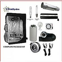 "T-TekHydro GROW TENT 4 1/2ft x 4 1/2ft x 7ft- 600W BALLAST-HPS&MH-Cool Tube 6""-Fan-Filter 4"" Complete Kit"