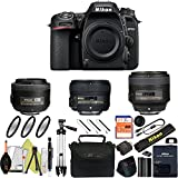 Nikon D7500 DSLR Camera With 18-140mm ED VR Lens - Includes Manufacturer Supplied Accessories (35mm + 50mm + 85mm Prime Lens f/1.8, Basic Bundle)