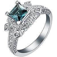 khamchanot Women Fashion Jewelry London Blue Topaz 925 Silver Wedding Ring Size7-10 (9)