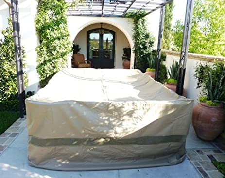 Patio Set Covers, 132u0026quot;Lx104u0026quot;W Fits Extra Wide Patio Table And  Chair