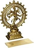 AONE INDIA Hindu God Shiva Dancing Nataraja Brass Statue For Home Temple Mandir 11.5 Inch + Cash Envelope (Pack Of 10)
