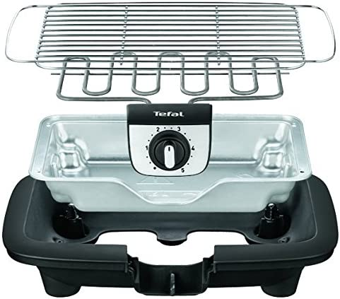 220W Tefal BG901D EasyGrill Silver Barbecue Elettrico Security System