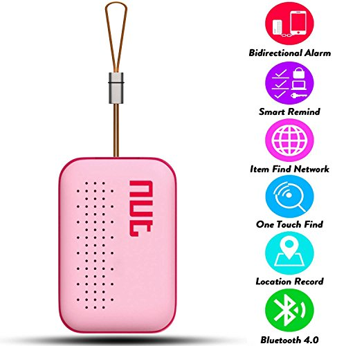 Smart Tag NUT Mini Bluetooth Anti-lost GPS Tracker Tracking Wallet Pets Key Finder Locator Sensor Remote Alarm for iOS/ iPhone/ iPod/ iPad/ Android (Pink) by Etopbest