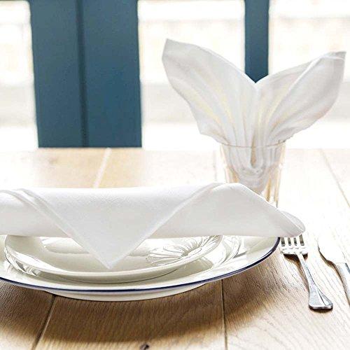 300 NEW PREMIUM WHITE COTTON RESTAURANT WEDDING DINNER CLOTH LINEN NAPKINS 20X20 (300) by Gold textiles (Image #4)