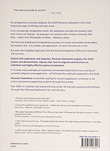Personal Statements Paul Telfer  AmazonCom Books