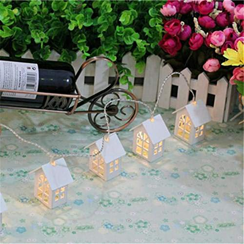 H+K+L 1.5M 10 LED European House Shaped String Light, Battery Powered Decoration Fairy Light - Perfect for Home, Party, Wedding,Festivals (Warm White) by H+K+L (Image #4)