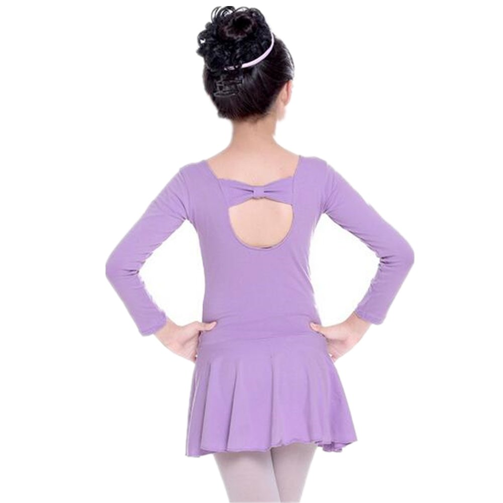 ZYZF Girl Kid Leotard Lycra Gymnastic Dancewear Ballet Bowknot Unitards Dress 20161004001