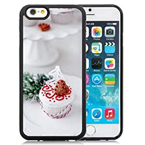 NEW Unique Custom Designed iPhone 6 4.7 Inch TPU Phone Case With Heart Shape Chocoloate Cookie Cake_Black Phone Case