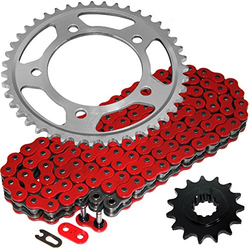 Red O-ring - Caltric Red O-Ring Drive Chain & Sprockets Kit Fits HONDA CBR600F3 CBR-600F3 CBR600 F3 1997 1998
